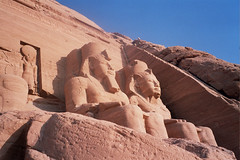 Abu Simbel. Egypt.- (ancama_99(toni)) Tags: pictures africa old trip travel vacation sculpture house holiday color building art history church nature sphinx architecture geotagged temple photography photo ancient king arte cross desert pyramid cathedral photos magic islam religion egypt picture esculturas churches 2006 mosque photographic nile escultura chapels cairo estatuas egyptian temples pyramids egipto aswan domes shrines coolest sculptures giza templo egitto egipte mosques ramsesii egypte islamic 1000views afrique abusimbel pharoh egipt ramessesii monaster 10favs 10faves egyptien ramsesthegreat sungods mywinners ancama99