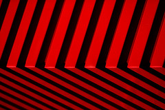 red array ( marc_l'esperance) Tags: shadow red abstract black color colour geometric monochrome lines metal architecture vancouver facade contrast corner canon eos saturated bars aluminum pattern shadows dof angle graphic geometry abstractart patterns  angles optical 2006 monochromatic minimal architectural line illusion 10d repetition abstraction minimalism siding nocrop uncropped minimalist allrightsreserved angled cml repeating contrasting canonef70200mmf28lusm abstracture ef70200mmf28l canon70200f28l bronly abigfave sideofastaplesbuilding top20dissymmetry aplusphoto scottpick waxystopnotch