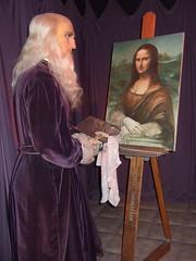Leonardo Di Vinci painting Mona Lisa (1) (mharrsch) Tags: sanfrancisco california artist monalisa renaissance leonardodivinci sanfranciscowaxmuseum mharrsch