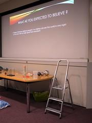 School of Jewellery Christmas Lecture - 2 (the justified sinner) Tags: justifiedsinner santaclaus richardtaylor quantumphysics jumper schoolofjewellery bcu cityuniversity birmingham westmidlands panasonic 17 20mm gx7