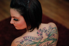 (kallao) Tags: portrait woman hot sexy girl beautiful tattoo female wow nude back model nikon noir eyelashes makeup topless stunning mysterious rug sultry flapper jillian brunette pinup hardwood d80