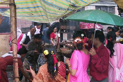 Festival crowd, Swayambhunath, Kathmandu, Nepal