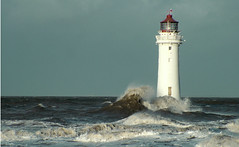 New Brighton lighthouse standing tall against the waves www.coastandboats.co.uk (jimmedia) Tags: road new sea sky panorama lighthouse lake history beach water port marina liverpool fun concrete coast brighton waves wind fort prom birkenhead promenade perch railing fare defence defences mersey wirral promanad