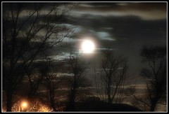 Night Lights (BehindBlueEyes) Tags: moon night clouds lights newjersey nj nightsky mercercounty montgomerytownship