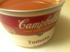 Campbells Tomato soup on a cold day