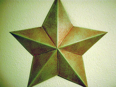 via Flickr Rusty Green Star by Tim Samoff