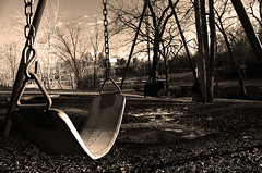 The Frozen Swing (Abdullah AL-Naser) Tags: winter snow cold dark kid child play swing abdullah abraj abraaj abigfave coldess diamondclassphotographer flickrdiamond
