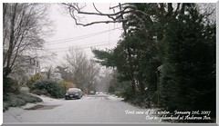 First snow... Anderson Ave.