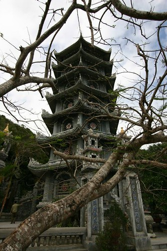 Pagoda in the Marble Mountains...