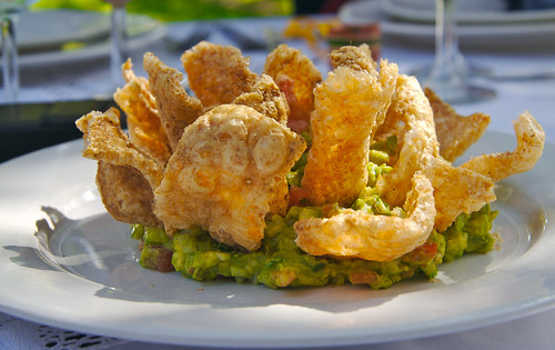 Guacomole with Pork Rinds
