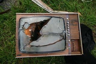Old broken TV