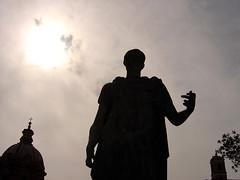 Statue Of Caesar (mattrkeyworth) Tags: rome roma statue roman sony caesar sillhouette p12 dscp12 mattrkeyworth
