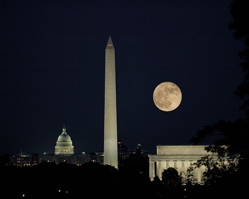 Moon Over Washington