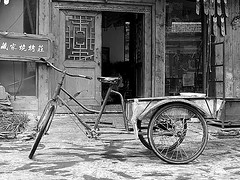 qP9101622 (Sam's Exotic Travels) Tags: china bw bicycle blackwhite sam sichuan jiuzhaigou province sams travelphotos samsays kkfav samsexotictravelphotos exotictravelphotos samsayscom
