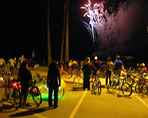 Bikes and fireworks