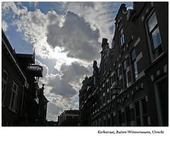 (ei) Tags: houses sky sun silhouette clouds utrecht wolken lucht zon kerkstraat buitenwittevrouwen
