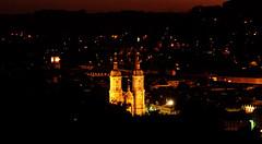 St. Gallen Towers (noelboss) Tags: city light building tower church night buildings switzerland cathedral nacht dom famous towers kirche haus stadt turm stgallen gebäude häuse xtress noelboss