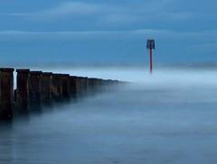 Misty waters (~Glen B~) Tags: uk longexposure england art beach nikond70 cleveland northsea groyne teesside redcar groynes tamron28300mm abigfave satelliteportfolio