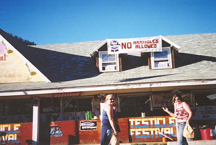 Jamie & Regina at the Testicle Festival '02.