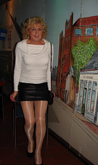Taking my ease... (kim femme10) Tags: me kim crossdressing tgirl tranny transvestite miniskirt pantyhose crossdresser trannies travestie transvestism tgirls