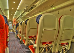 Virgin Train Coach D (Matty_P) Tags: travel train coach cabin nikon interior railway virgin explore seats d200 hdr pendolino quietcoach