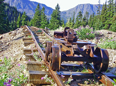 picture of an old mining cart in BC (xtremepeaks) Tags: old canada mountains history abandoned beautiful silver landscape rust scenery mine saveme bc hiking deleteme10 decay interestingness1 rail mining most smithers cart ore disintegration babine i500 mywinners trailpeak explore8nov06 pregamewinner gamesweepwinner