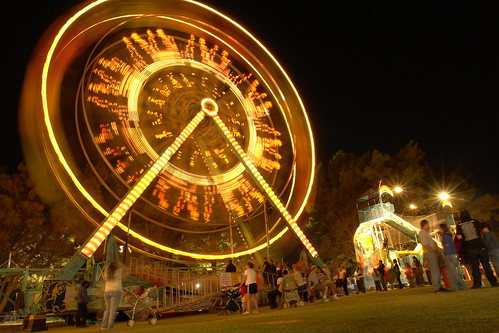 night photography carnival ride by richard brian photography.