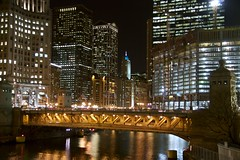 Michigan Avenue Bridge in Orange (Giant Ginkgo) Tags: chicago illinois downtown unitedstates trumptower michiganavenue cookcounty michiganavenuebridge