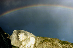 Rainbow Over Half Dome (Terry Foote) Tags: california park rainbow national yosemite dome half halfdome rainbows