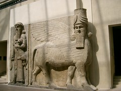 Winged Bull, Palace of Sargon II in the Musee de Louvre (edwin.11) Tags: paris museedelouvre wingedbull palaceofsaigonii