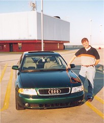 Pride and Joy - 1999 Audi A4 (HexBlock) Tags: cars mike 1999 a4 audi cleanshaven tampainternationalairport 34yearsold sansbeard muchthinner cactusgreenmica rooftopparkinggarage