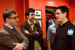 The three Johns (Lalitree) Tags: nyc thedailyshow livemusic dressingroom benefit jd backstage johndarnielle irvingplaza 826nyc johnoliver johnhodgman tenfuingyears