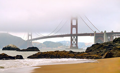 Golden Gate Beach (disneymike) Tags: sanfrancisco california bridge mist beach fog nikon d2x goldengatebridge goldengate nikkor 1735mmf28d bakerbeach nikonstunninggallery