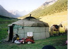 mountain yurt (mm-j) Tags: mountain market kyrgyzstan
