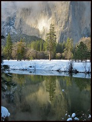 El Capitan Merced River Yosemite National Park - yosemite nature california water river mountains specland capitan winter outdoor brekke reflections