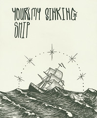 Your'e My Sinking Ship (SKIRT CHASER ONER) Tags: ship drawing viking goingdown theviking