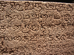 Tenkasi-stone-04 (Ravages) Tags: old india history stone writing temple ancient time carve granite record language script chisel etch tamil tamilnadu inscription tenkasi rockcut indianness epigraphy  stoneinscription  vattezhuthu