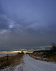 November sunset from road