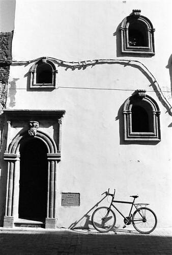 Bike on Wall, Morocco