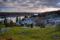 First sign of winter (Krogen) Tags: nature norway river landscape norge natur norwegen olympus c7070 noruega nes scandinavia akershus romerike krogen landskap elv noorwegen noreg skandinavia glomma photomatix