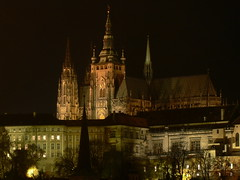 Prague Castle and St. Vitus Cathedral by Night