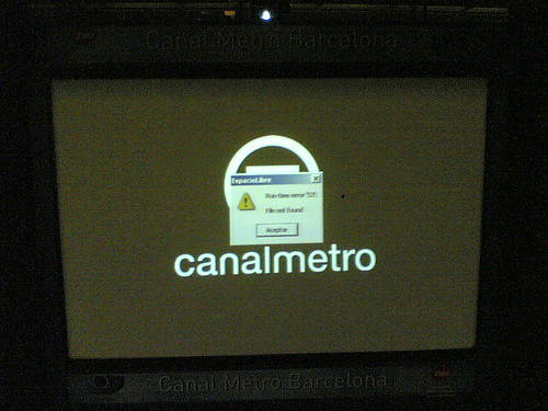 runtime error in metro