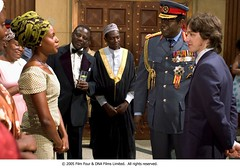 Idi Amin introduces Kay Amin and Nicholas Garrigan. (foxsearchlightphotos) Tags: foxsearchlight lastkingofscotland