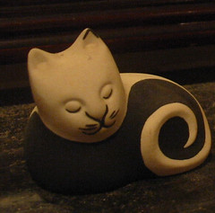 smug cat (NellyMoser) Tags: ornaments geegaws catcollection