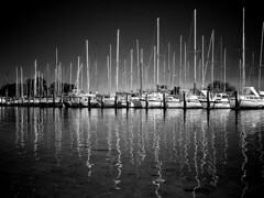 Boats and Yachts (autumn_leaf) Tags: blackandwhite bw reflection water river landscape boats perth wa yachts westernaustralia tr waterreflection yachtclub berth waterscape applecross canningriver abigfave impressedbeauty potwkkc15