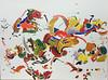 Joie de vivre I (Églantine) Tags: painting tableau acrilyque acrylic couleurs colours colors paper joiedevivre youmegallery omgymg2016 colourful whimsical
