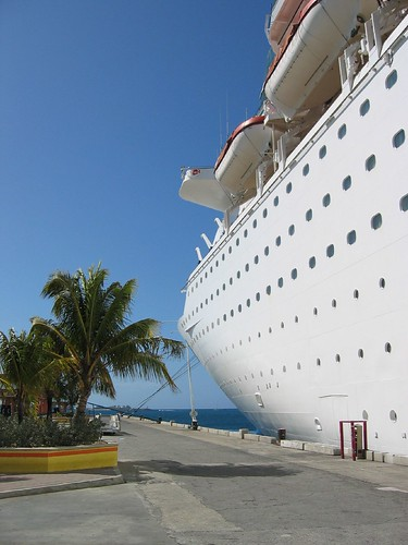 Our Cruise Ship Docked In Nassau