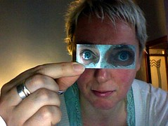 day 24: moo card eyes (estherase) Tags: selfportrait findleastinteresting photobooth moo 365 day24 faved emssimp 365days moocard esthersimpson