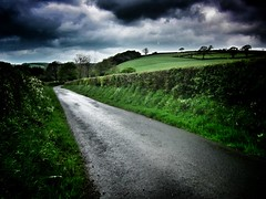Wales in May series (Nick Kenrick.) Tags: wales road path stormy rural
