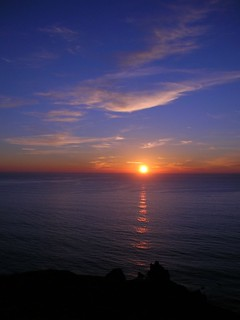 sunset over ocean, sonoma coast